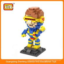 LOZ 9458 x-hombres Cyclops Super héroe de plástico de diamante ladrillo bloque de construcción de juguete