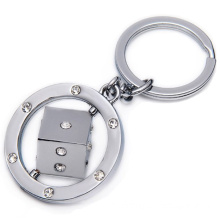 SGS Certified Dices Rotatable Key Chain (XS-KC0355)