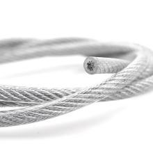 Cable de acero inoxidable recubierto de PVC 316 1x19 3-5mm