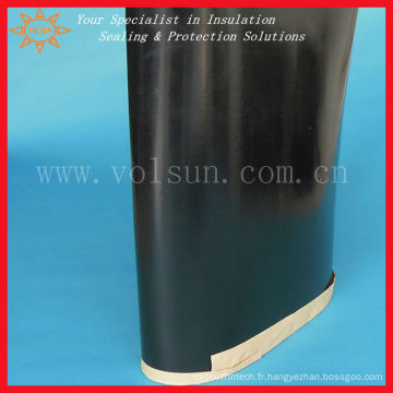 Manchon thermorétractable noir pour la protection contre la corrosion