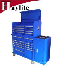 cofre de metal pro acero con caja de herramientas con cerradura central