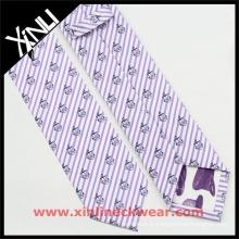Cravate célèbre de marque faite main de luxe en gros de la Chine 100% en soie