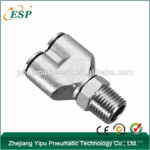 ESP metal Y shaped pipe fittings pneumatic male thread fittings swivel pipe fittings