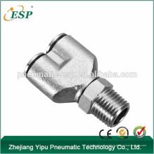 ЭСП металла Y образные фитинги пневматические фитинги наружная резьба шарнирного соединения штуцеры трубы