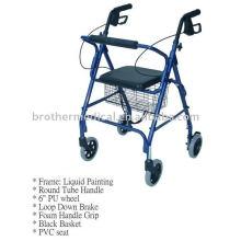 Alumínio Mobilidade Walker Rollator Dobrável