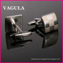 VAGULA nova qualidade Laser abotoaduras (HL10165)