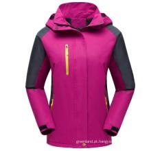 Casaco de esqui feminino com capuz removível personalizado