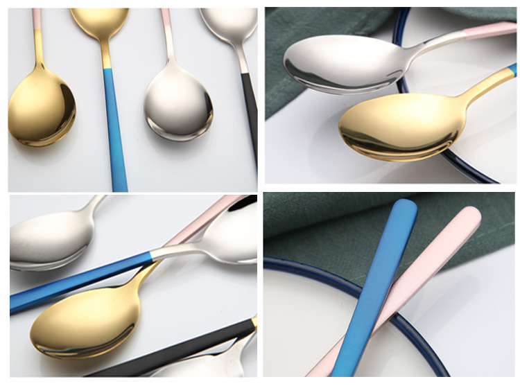 Colourful dinner spoon