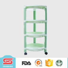 shunxing artículos para el hogar 4-capa artículo circular estante de almacenamiento de cocina con rueda