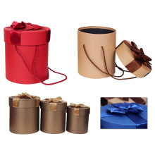 Special Quality Paper Hat Box Round Paper Box with Handle