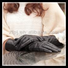 fashion lady wearing leather long arm glove
