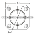 4-Bolt Hole Square Self-Aligning Mounting Flanges