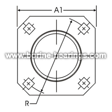 Hot sale for Stamped Steel Mounting Flange 4-Bolt Hole Square Self-Aligning Mounting Flanges supply to Yemen Manufacturers