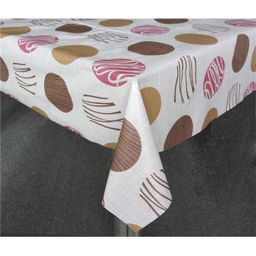 LFGB imprimió el material del PVC del mantel con el forro (a todo color)