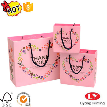 Custom printed shopping gift packaging paper bag