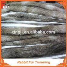 Garniture en fourrure de lapin de première qualité