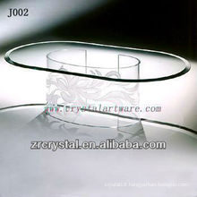K9 Oval Crystal Table with Unique Leg
