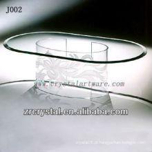 K9 Mesa de Cristal Oval com Perna Única