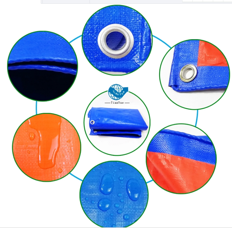 Waterproof high quality PE tarpaulin with eyelet