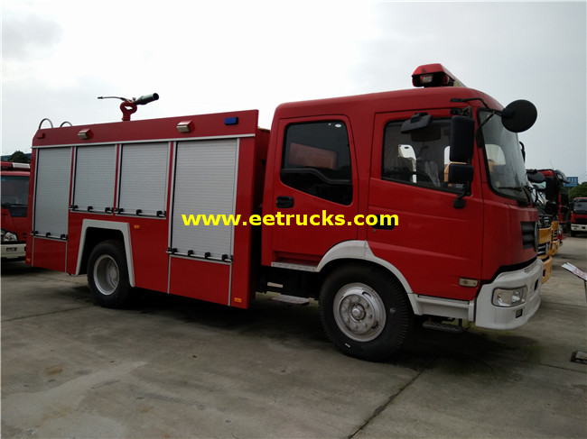 Dongfeng 6000 Litres Fire Fighting Water Trucks
