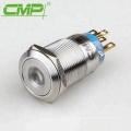 Dot or Ring LED 19mm Anti-vandal Metal Push-Button Light Switch