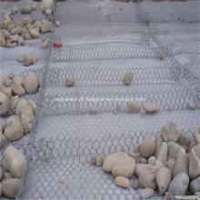 Paredes revestidas de pedra do jardim da cesta de Gabion do PVC enchido