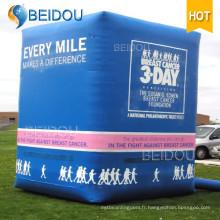 Produits de publicité géants personnalisés Répliques de modèles Globe gonflable Cube gonflable