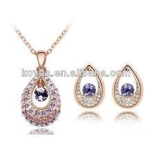 2014 latest design plated gold jewelry fashion dubai jewelry set