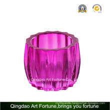 Color Ribbed Votive Glass Candle Holder Supplier