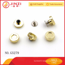 Zinc alloy rivets and eyelets for shoes