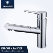 Tradycyjne Deck Mount One-Handle Chrome Kitchen Mixer Faucet