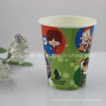 Coupe en papier spécial isolant de café chaud à usage unique de haute qualité