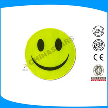 High visibility smile shape reflective label