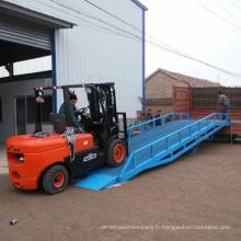 Rampes de chargement mobiles hydrauliques de chariot élévateur de 10T