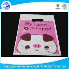 PO Bolsa de plástico com impressão Personalizando Logo & Punch Handle