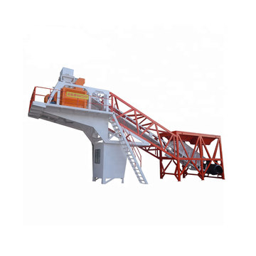 Hzs50+Mobile+Concrete+Batching+Plant+With+Reversible+Mixer
