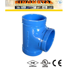 Casting Ductile Iron Fire Grooved Equal Tee Fittings