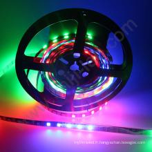 Changement complet de couleur dmx adressable ws1221 UV 12VDC individuel IC contrôle numérique pixel rgb flexible led bande
