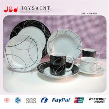 Großhandel Porzellan rechteckiges Abendessen geteilte Platte für Restaurant