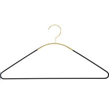 Wholesale Black Gold metal hangers for clothes organizing