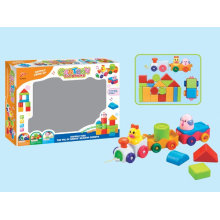 Brinquedos de plástico de blocos de construção