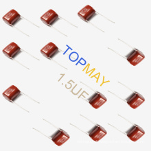 Capacitor metalizado Mkt-Cl21 1.5UF 10% 250V do filme de poliéster para o sistema de alta tensão