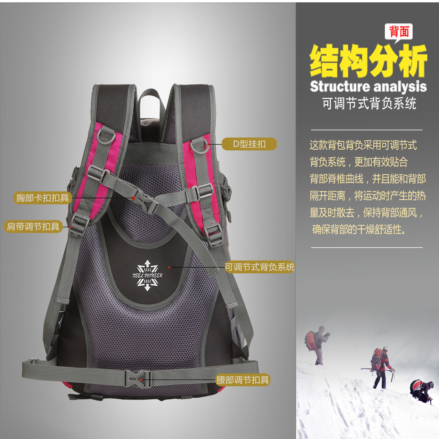 Custom Logo Outdoor Hiking Sports Picnic Folding Bagpack