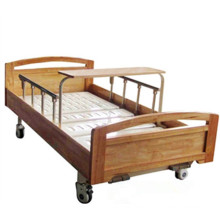DW-BD189 electric hospital bed with mattress high density wood manual nuring bed with two functions for medical equipment