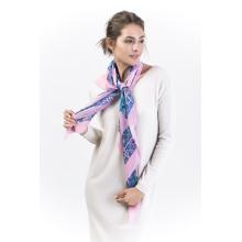 Brssa-100% Seide Digital bedruckter quadratischer Schal