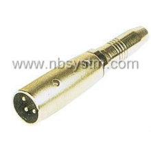 3P conector de micrófono a 6.35mm jack estéreo / 3P conector de micrófono a 6.3mm monojack