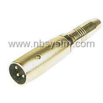 3Р разъем для микрофона 6.35 мм стерео Джек / 3Р разъем для микрофона 6.3 мм monojack