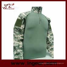 Militar táctica uniforme camuflaje camiseta Airsoft uniforme traje de rana