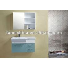Pared pintada de PVC baño gabinete / vanidad / mobiliario de artículos sanitarios, material de construcción, material de construcción, tocador de baño