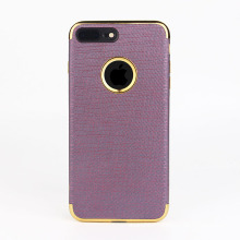 2017 newest electroplate color PU leather phone case for iphone 7 plus